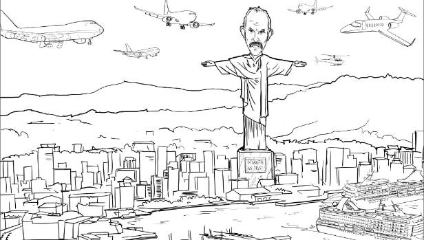 Sir Bob Jones has even sent in a sketch of what the statue - in the style of Rio de Janeiro's Christ the Redeemer - would look like, towering above Wellington.
