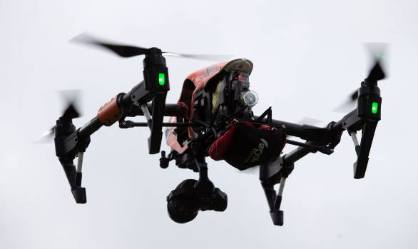 Lealand's latest UAV senses when it is close to the ground and lands itself.