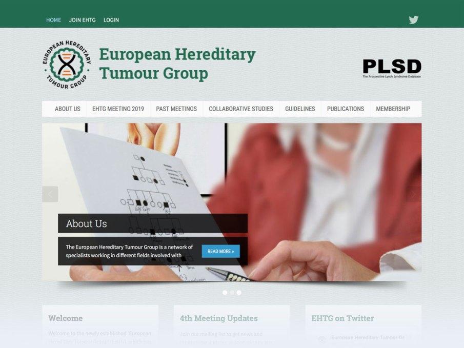 European Hereditary Tumour Group website homepage