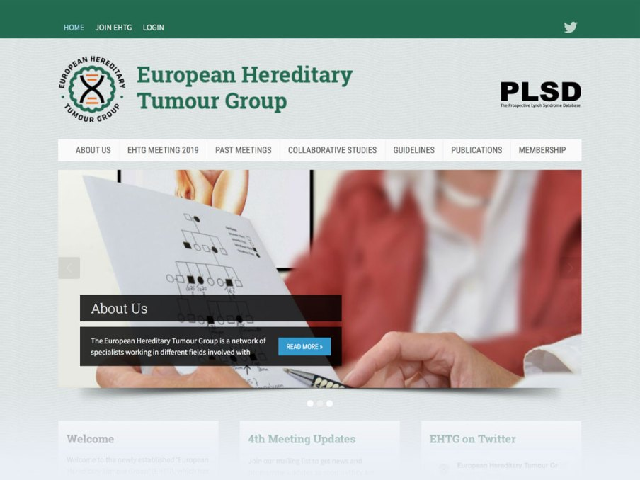European Hereditary Tumour Group website homepage