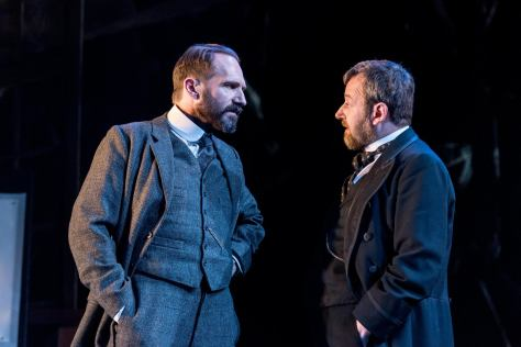 Ralph Fiennes and James Dreyfus - Photo © Manuel Harlan from The Old Vic's Facebook page.