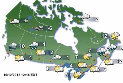 Canada Weather Map   Rtlbreakfastclub Canada Weather Map
