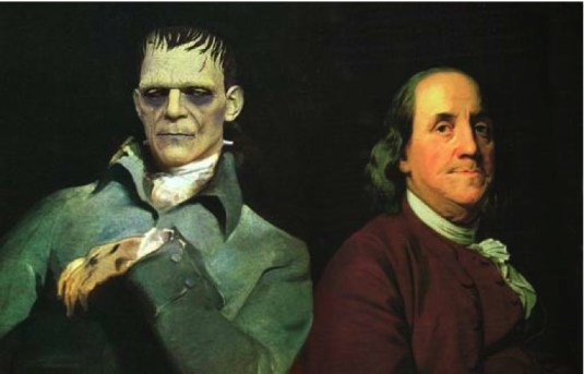 Ben Franklin almost changed his name to Ben Frankenstein in support of his good friend. July 27, 1784
