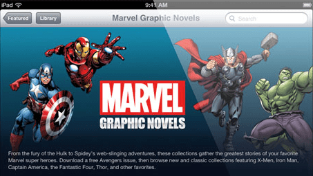 Marvel Graphic Novels Now Available on iBooks