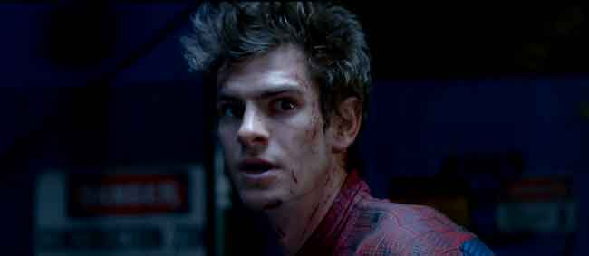 Peter Parker aka Andrew Garfield in The Amazing Spiderman