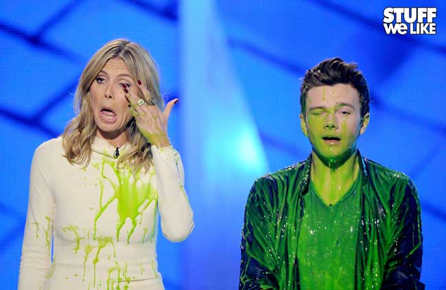 KCA 2012 Heidi Klum and Chris Colfer