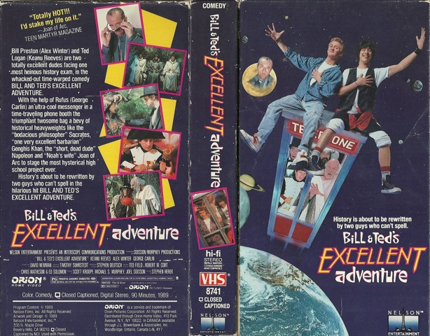Bill & Ted VHS Cover