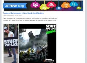 Ustream Features StuffWeLike