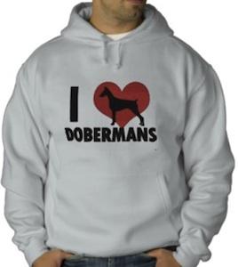 I Love Dobermans Hoodie