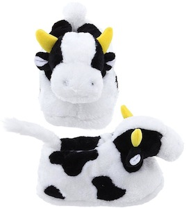 Adult cow shaped slippers