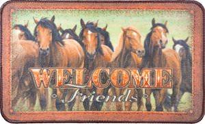 Welcome Friends Horse Doormat