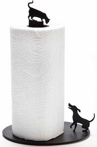 Cat And Dog Paper Towel stand