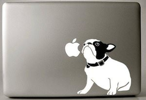Cute dog laptop decal
