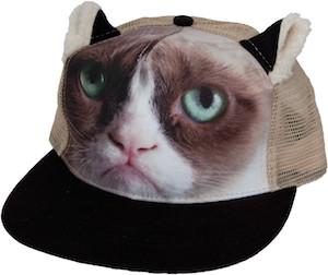 Grumpy cat truckers hat