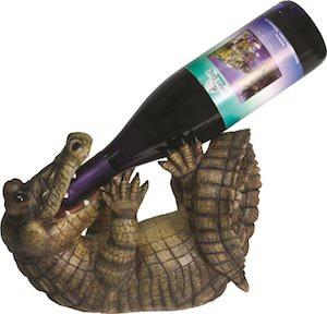 Alligator Wine Bottle Holder