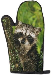 Raccoon Oven Mitt
