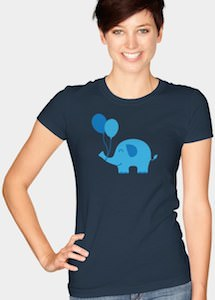 Elephant And Balloons T-Shirt