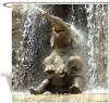Bathing Elephant Shower Curtain