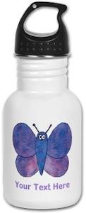 Butterfly Personalized Water Bottle
