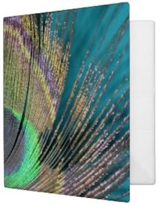 Peacock Feather Binder