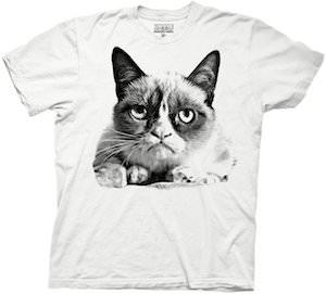 Black and white Grumpy Cat t-shirt