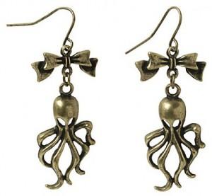 Octopus Bow Drop Earrings
