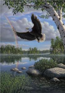 On Eagles Wings Print
