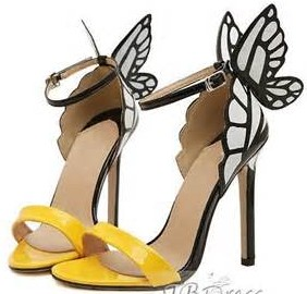 Stiletto Heel Butterfly Sandals
