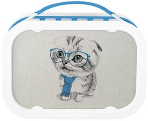 Trendy Kitten Lunch Box