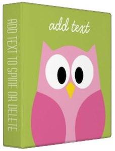 Cartoon Owl Personal Binder