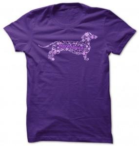 Dachshund Floral Design T-Shirt