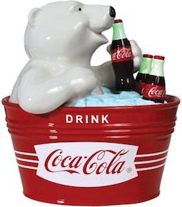Coca Colla Polar Bear Cookie Jar