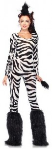 Zebra Womens Bodysuit Costume
