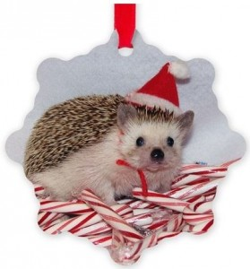 Hedgehog Snowflake Christmas Ornament