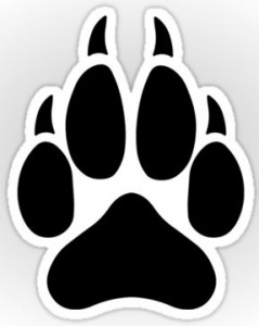 Wolf Paw Vinyl Sticker