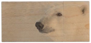 Polar Bear Woden USB Flash Drive