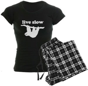 Sloth Live Slow Women's Pajamas