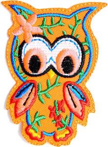 orange Owl Clothing Patch