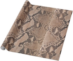 Snakeskin gift Wrapping Paper