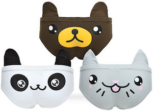Panda, Cat And Bear women's Underwear