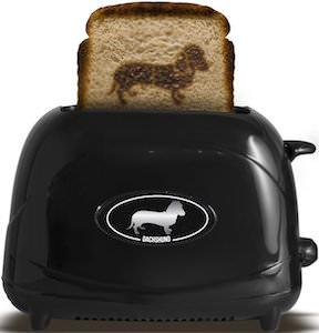 Toast some bread with this Dachshund Toaster