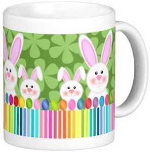 Easter mug with bunnies