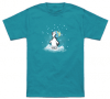 Penguin Watching Snow Fall T-Shirt