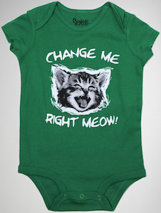 Cat Change Me Meow Baby Bodysuit