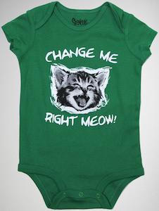 Cat Change Me Meow Baby Bodysuit