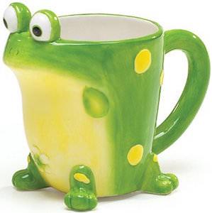 Green Frog Shaped Mug