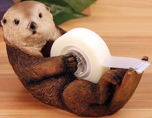 Cute otter tape dispenser