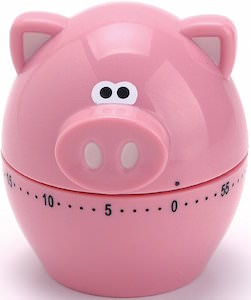 Pink Piggy Kitchen Timer