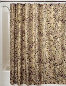 Cheetah Animal Print Shower Curtain