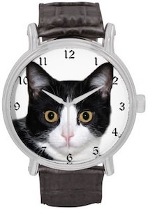 Tuxedo Cat face watch